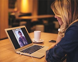 Participate in online degree programs through video chat and other digital means